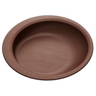 木目食器シリーズ 木目すくいやすいプレート ブラウン 茶色/NPLS2_383724
