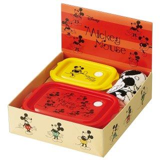 ミッキーマウス フェイスバリエーション フードコンテナ 大1コ・小1コ&おしぼり 1000円ギフトセット/SET926_386701