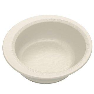 木目食器シリーズ 木目すくいやすいボウル クリーム 白色/NPLS1_391620