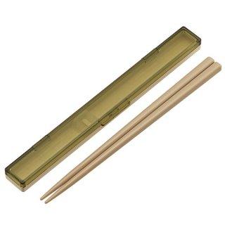 レトロフレンチカラー グリーン 音が鳴らない 超スリム 箸・箸箱セット 箸18cm/ABCS3_392757