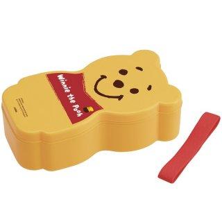 子供用 弁当箱 400ml 箸付き 中子付 キャラクター型 くまのプーさん|電子レンジ対応/SCAN1_411502