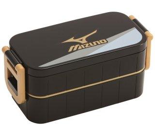 弁当箱 2段 ロック式 600ml 箸付き 仕切り付き ミズノ18-MIZUNO-|電子レンジ対応/YZW3_424335