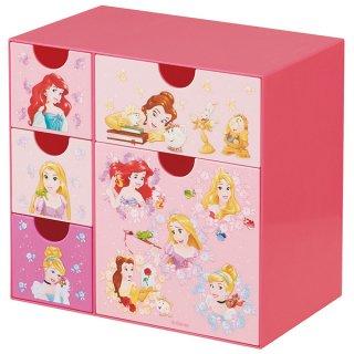 ディズニー プリンセス 引き出しいっぱい 小物収納に最適 木目 ミニチェスト/CHE5_433511