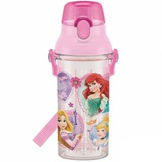 直飲み プラスチック クリアボトル水筒 480ml プリンセス19|食洗機対応|子供用/PSB5TR_439667