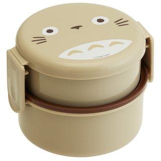 丸型 弁当箱 2段 500ml ミニフォーク付 となりのトトロ|電子レンジ対応/ONWR1_451584