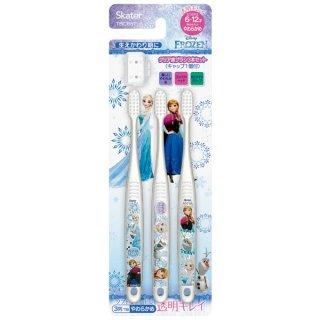 小学生用 クリアこども歯ブラシ 3本入 アナと雪の女王|子供用/TBCR6T_466991