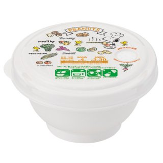 薄肉ごはん保存容器(S)お茶碗型 スヌーピー SNOOPY やさい/RGO1_478420
