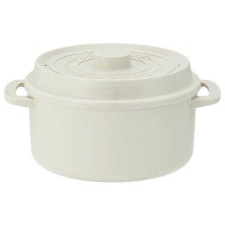 ココット風電子レンジ用鍋 パウダーカラホワイト/MWCP2_487965