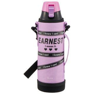 【カバー付き】ロック付きワンプッシュダイレクトボトル[990ml] POPロゴ(EARNEST) パープル 紫 ハート/KSDC10S_505102