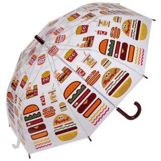 【同梱不可・送料770円】子ども用ビニール傘(55cm) バーガーコンクス  ミックス/UBV0_528590