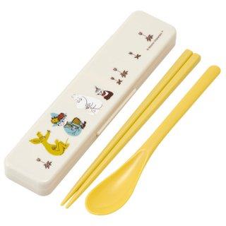 食洗器対応 カチャカチャ音が鳴らないコンビセット[箸・スプーン:18cm]  ムーミン カラー/CCS3SA_506031
