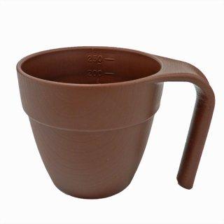 木目食器シリーズ 目盛り付きスタッキングマグカップ(持ち手付きコップ) ブラウン/NMGS1HME_463679