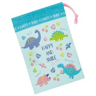 コップ袋 ハッピー&スマイル(女の子向け 恐竜柄)/KB62_510892