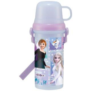 直飲みコップ付きプラスチック水筒 アナと雪の女王21/PSB5KD_517204