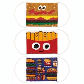 子ども用ガーゼマスク3枚セット バーガーコンクス ミックス/MSKG1_528613