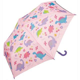 子ども用折りたたみ傘 ハッピー&スマイル(女の子向け 恐竜柄)/UBOT1_515323