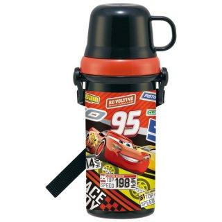 直飲みコップ付きプラスチック水筒 480ml カーズ21/PSB5KD_516061