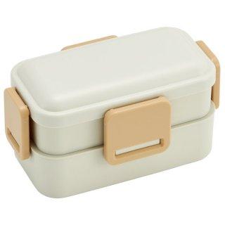 2段ふわっと弁当箱 総容量:600ml パウダーカラー ミストホワイト/PFLW4_480911
