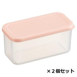 作り置き小分け容器230ml(長角2個セット) パウダーパステル ピンク/CCBL2_528224