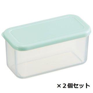 作り置き小分け容器230ml(長角2個セット) パウダーパステル グリーン/CCBL2_528231