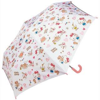 子ども用折りたたみ傘 サンリオ ハローキティ おやつタイム/UBOT1_538858