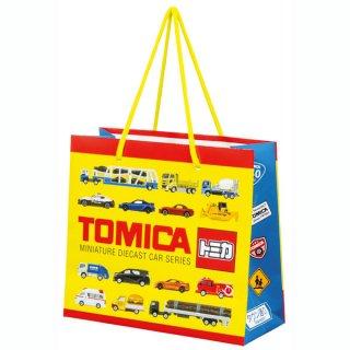 【2枚以上からご注文可能】持ち手つきペーパーランチバッグ(紙バッグS) トミカ/PABG1_540806
