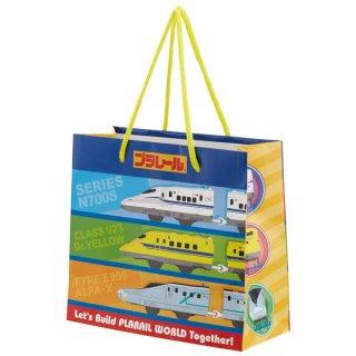 【2枚以上からご注文可能】持ち手つきペーパーランチバッグ(紙バッグS) プラレール/PABG1_540820