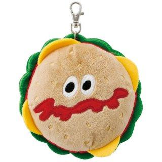 ぬいぐるみ型リール付きパスケース バーガーコンクス ハンバーガー/PASC1_529122