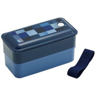 抗菌パッキン一体型2段ふわっと弁当箱 総容量850ml デニム/PALW9AG_521492
