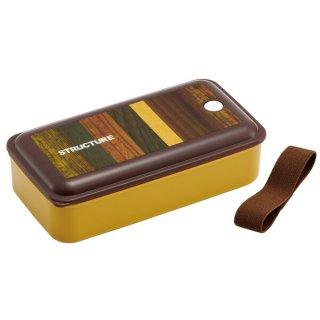 抗菌パッキン一体型ふわっと弁当箱 830ml 木目(ブラウン)/PAL8AG_521553