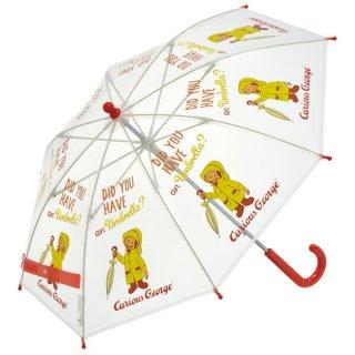 【同梱不可・送料770円】子ども用ビニール傘(40cm) おさるのジョージ/UBV2_520198