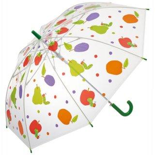 【同梱不可・送料770円】子ども用ビニール傘(55cm) ジャンプ式 はらぺこあおむし/UBV3_524981