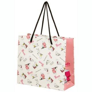 【2枚以上からご注文可能】持ち手つきペーパーランチバッグ(紙バッグS) SNOOPY /スヌーピー ちらし/PABG1_535789