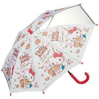 【同梱不可・送料770円】子ども用傘(35cm) サンリオ ハローキティ おやつタイム/UB0_538513