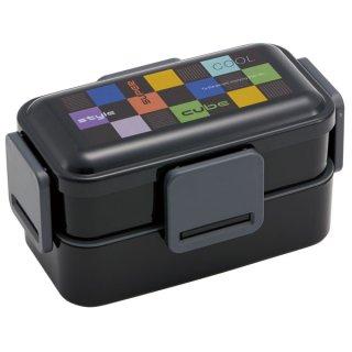 抗菌2段ふわっと弁当箱 総容量850ml キューブ−cube−/PFLW9AG_543166