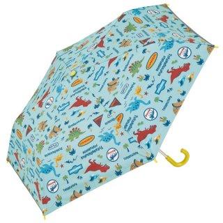 子供用 晴雨兼用折りたたみ傘(50cm) ディノサウルス ジュラシック(恐竜柄)/UBOTSR1_541803