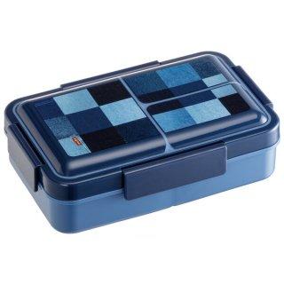 抗菌パッキン一体型4点ロックふわっと弁当箱 容量850ml デニム/PALT9AG_521454