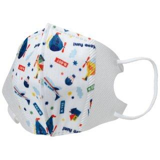 子ども用 不織布 立体マスク[10枚入] ヘリコプター/MSKS3_544163