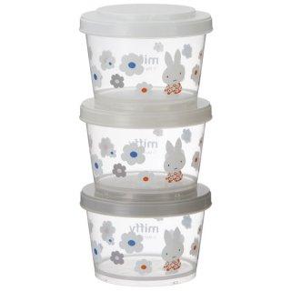 薄肉保存容器 240ml 3個組 ミッフィー モノトーン フラワー/SIJ3_549342