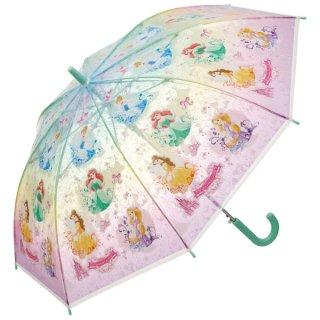 【同梱不可・送料770円】子ども用ビニール傘(55cm) プリンセス/UBV3_557408