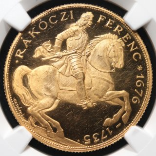 ハンガリー Hungary ラーコーツィ・フェレンツ2世 40ペンゴ リストライク金貨 1935年BP NGC PF63 ULTRA CAMEO