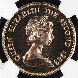 中国 China 香港 干支1000ドル金貨 亥 Year of the Pig 1983年 NGC MS68