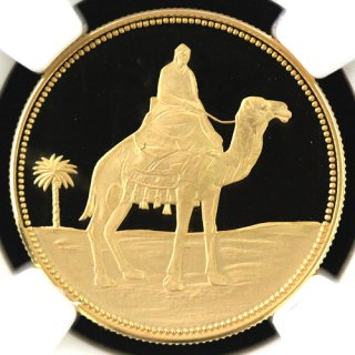 イエメン Yemen モハメド・マフムード・アズバイリ追悼記念 1リヤル金貨 1969年 NGC PR69 ULTRA CAMEO