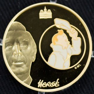 フランス タンタンの冒険 TINTIN 10ユーロ金貨 1/4oz Proof 2007年