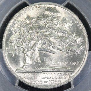 アメリカ United States of America コネチカット定住300周年 ハーフダラー銀貨 1935年 PCGS MS64