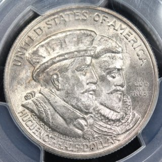アメリカ United States of America ユグノーワロン上陸300年 ハーフダラー銀貨 1924年 PCGS MS65