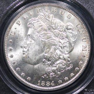 アメリカ United States of America モルガンダラー 1ドル銀貨 1884年O PCGS MS62