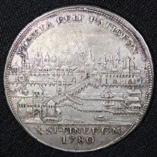 ドイツ Germany レーゲンスブルク 都市景観 ヨーゼフ2世 ターラー銀貨 1780年BF