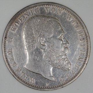 ドイツ Germany ヴュルテンベルク王国 ヴィルヘルム2世 5マルク銀貨 1903年 NNC AU50