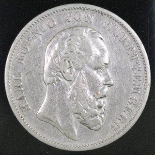 ドイツ Germany ヴュルテンベルク王国 カール1世 5マルク銀貨 1876年